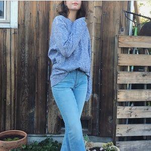 Oversized slouchy boyfriend marled pullover